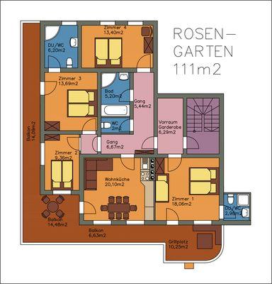 Rosengarten Plan Grundriss