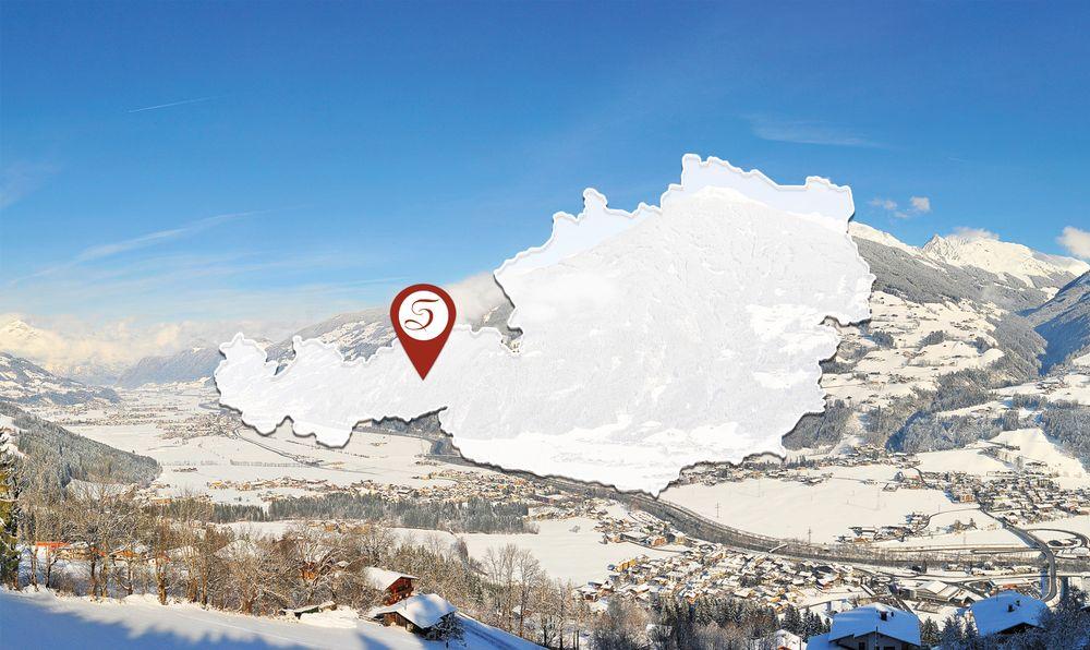 Österreichkarte mit Lage Haus Schwarzenberg am Stummerberg